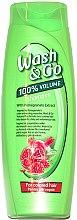 Kup Szampon z ekstraktem z granatu do włosów farbowanych - Wash&Go 100 % Volume Shampoo