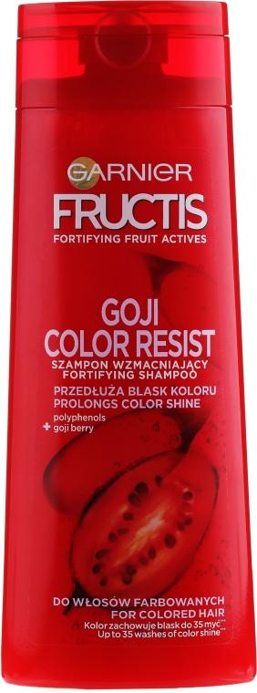 Szampon wzmacniający do włosów farbowanych i z pasemkami - Garnier Fructis Goji Color Resist
