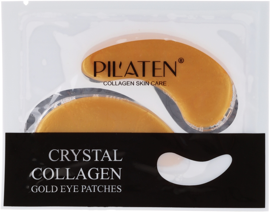 Maska-plastry pod oczy z kolagenem - Pilaten Crystal Collagen Gold Eye Mask — фото N1