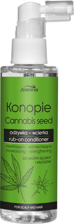 Nawilżająco-wzmacniająca odżywka-wcierka do skóry głowy i włosów - Joanna Konopie
