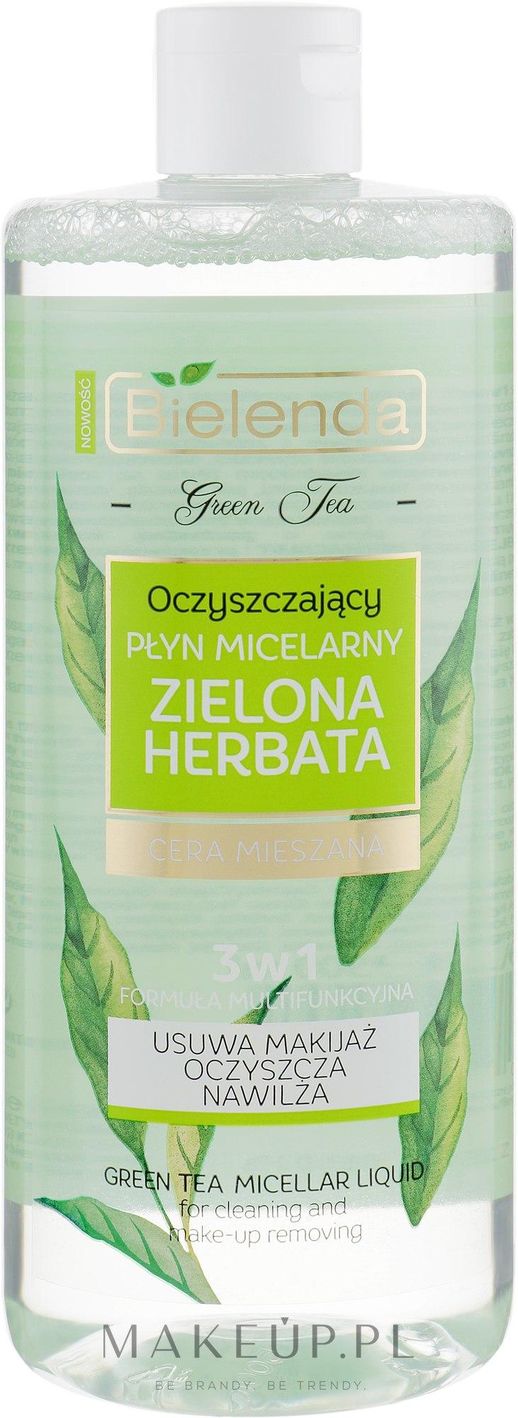 Oczyszczający płyn micelarny 3 w 1 do cery mieszanej Zielona herbata - Bielenda Green Tea — фото 500 ml
