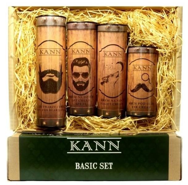Zestaw do pielęgnacji twarzy dla mężczyzn - Kann Basic Man (f/d/cr 50 ml + f/n/cr 50 ml+ f/gel 150 ml + eye/cr 15 ml) — фото N1