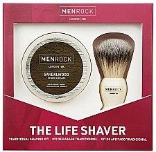 Kup Zestaw do golenia dla mężczyzn - Men Rock The Life Shaver Sandalwood Kit (brush + sh/cr 100 ml)