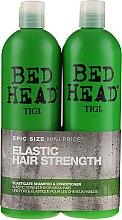 Kup Zestaw do włosów osłabionych - Tigi Bed Head Elastic Hair Strenght (shm 750 ml + cond 750 ml)