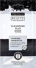 Kup Oczyszczająca maska glinkowa do twarzy - Freeman Beauty Infusion Cleansing Clay Mask Charcoal & Probiotics (miniprodukt)