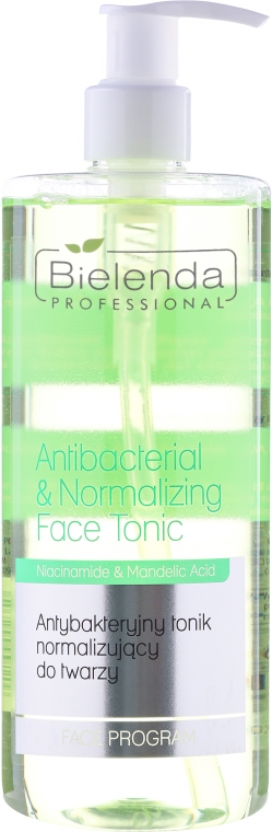 Antybakteryjny tonik normalizujący do twarzy - Bielenda Professional Face Program Antibacterial & Normalizing Face Tonic
