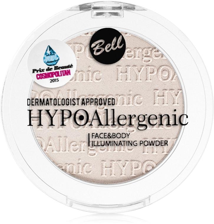 Hipoalergiczny rozświetlacz do twarzy i ciała - Bell HYPOAllergenic Face & Body Illuminating Powder — фото N2