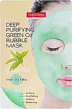 Kup Oczyszczająca maseczka bąbelkowa do twarzy z zieloną herbatą - Purederm Deep Purifying Green O2 Bubble Mask Green Tea