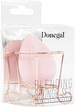 Kup Gąbka do makijażu ze stojakiem, różowa - Donegal