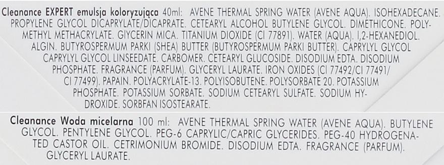 Zestaw - Avène Cleanance Expert (emul 40 ml + mic/water 100 ml) — фото N3