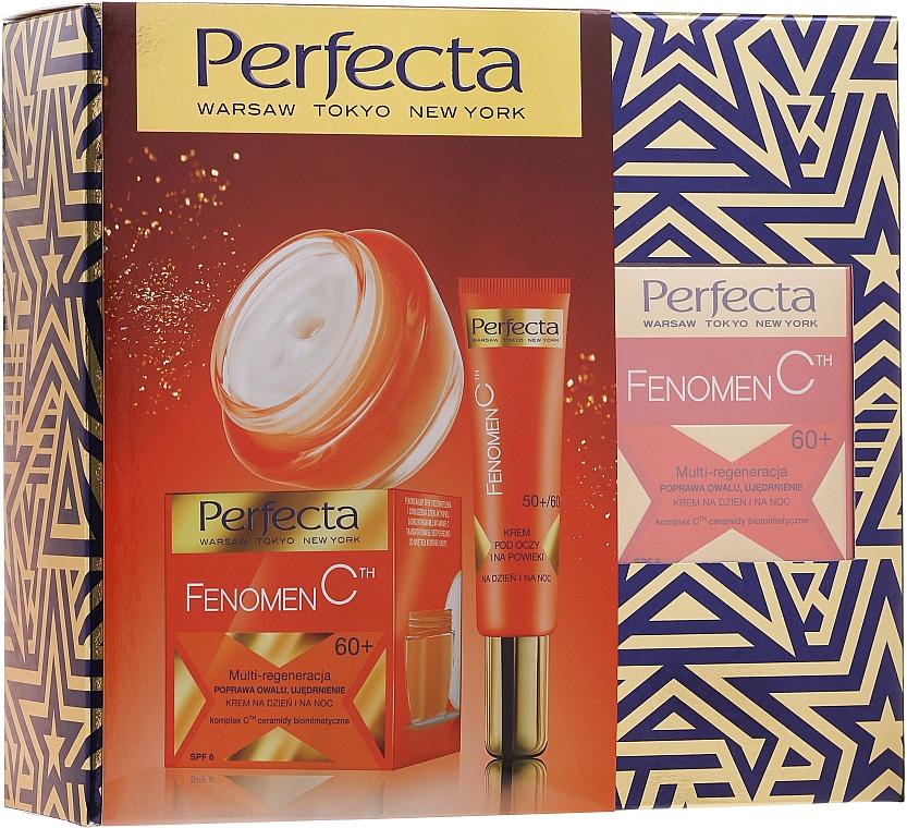 Zestaw kosmetyków do twarzy 60+ - Perfecta Fenomen C (cr 50 ml + eye/cr 15 ml)