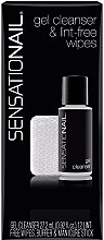 Kup Zestaw - SensatioNail Gel Cleanser & Wipes (cleanser 27,2 ml + wipes + nail/buffer + manicure/stick)