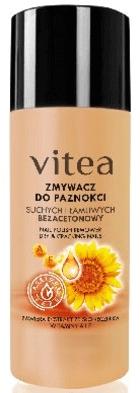Bezacetonowy zmywacz do suchych i łamliwych paznokci - Vitea