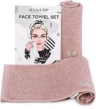 Kup Podróżny zestaw beżowych ręczników do twarzy MakeTravel - Makeup
