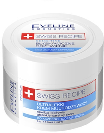 Ultralekki krem multiodżywczy - Eveline Cosmetics Swiss Recipe Sensitive