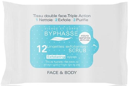 Złuszczające chusteczki do twarzy - Byphasse Exfoliating Wipes All Skin Type — фото N1