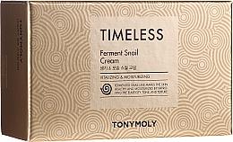 Kup Zestaw kosmetyków z ekstraktem ze śluzu ślimaka (krem do twarzy + krem pod oczy) - Tony Moly Timeless Ferment Snail Cream And Timeless Ferment Snail Eye Anti-wrinkle & Whitening & Moisturizing