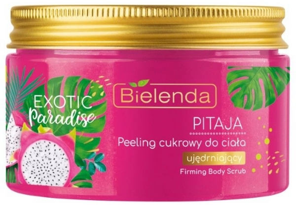 Ujędrniający peeling cukrowy do ciała Pitaja - Bielenda Exotic Paradise Peel