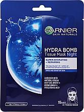 Kup Rozświetlająca złota maska do twarzy - Garnier Skin Naturals Hydra Bomb Tissue Mask Sea Water