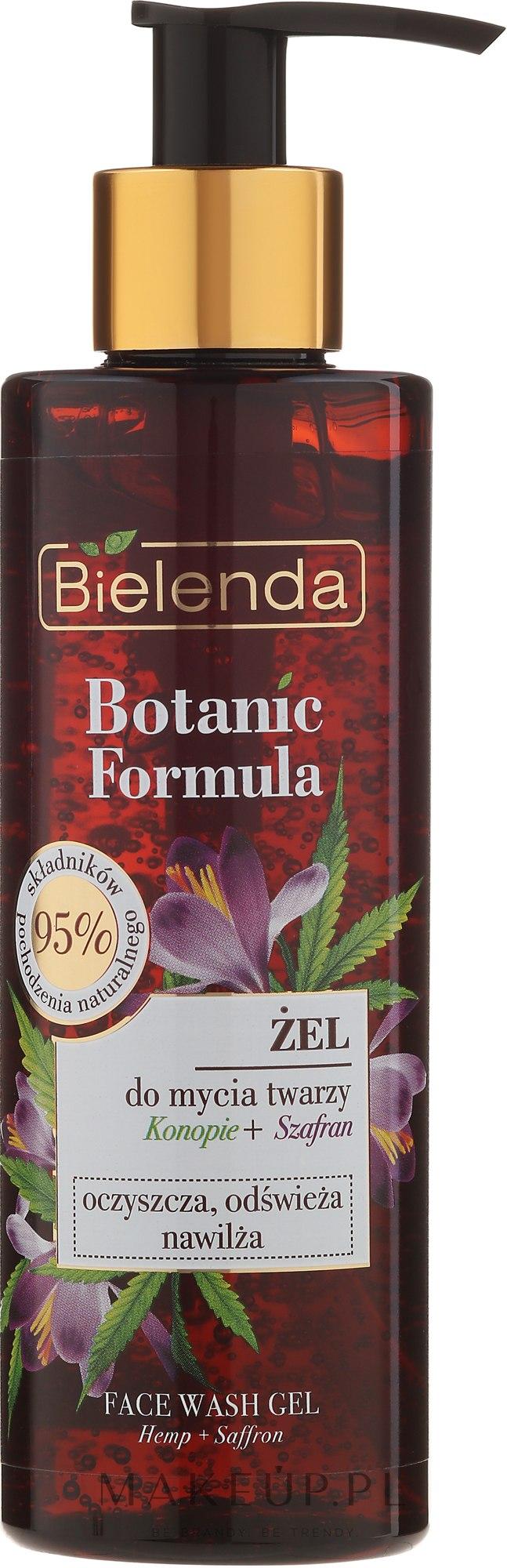 Nawilżający żel do mycia twarzy Konopie + szafran - Bielenda Botanic Formula — фото 200 ml
