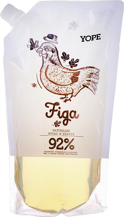 Naturalne mydło w płynie - Yope Figa 92% (uzupełnienie)