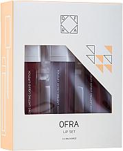 Kup PRZECENA! Zestaw pomadek matowych w płynie - Ofra Espresso Lip Set (lipstick/3x8g) *