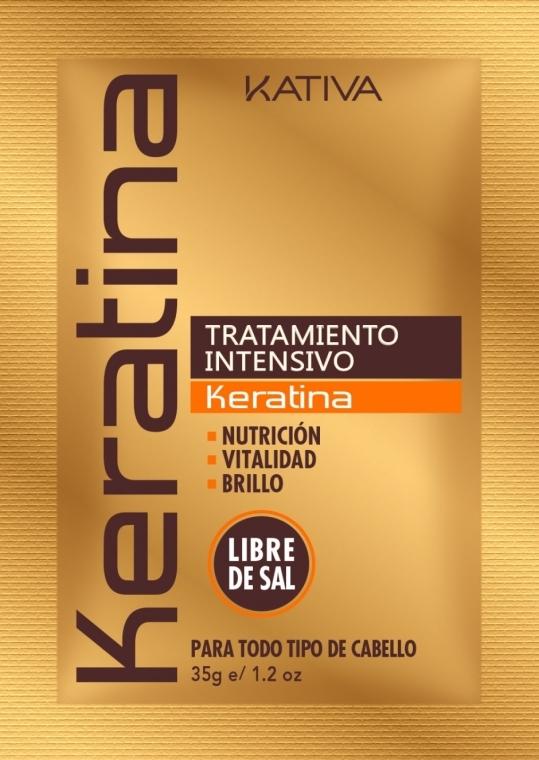 Nawilżająca maseczka do włosów z keratyną - Kativa Keratina Intensive Treatment