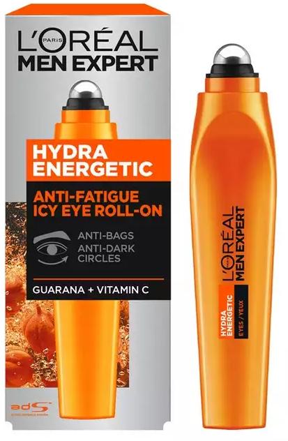 Roll-on pod oczy Efekt kostki lodu - L'Oreal Paris Men Expert Hydra Energetic Roll-on Eyes