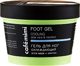 Kup Ochładzający żel do stóp - Cafe Mimi Foot Gel Cooling Aloe Vera & Menthol