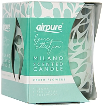 Kup Świeca zapachowa Świeże kwiaty - Airpure Milano Scented Candle Home Collection Fresh Flowers