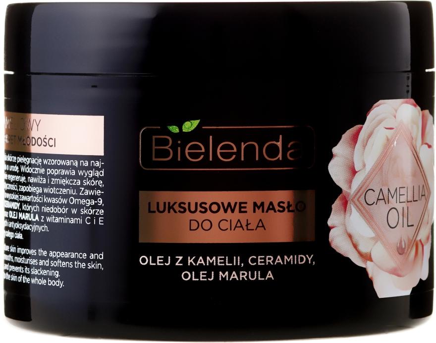 Luksusowe masło do ciała z olejem z kamelii, ceramidami i olejem marula - Bielenda Camellia Oil — фото N2