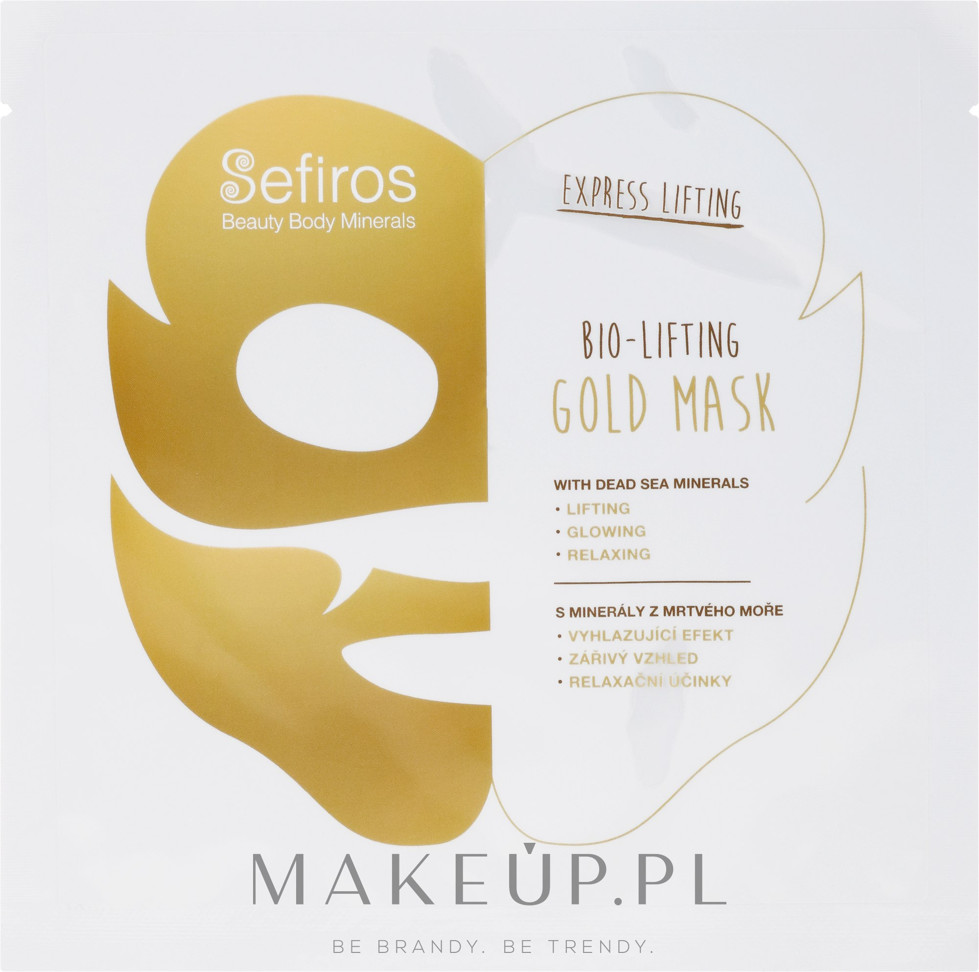 Bioliftingująca złota maseczka do twarzy z minerałami z Morza Martwego - Sefiros Bio-Lifting Gold Mask — фото 20 ml