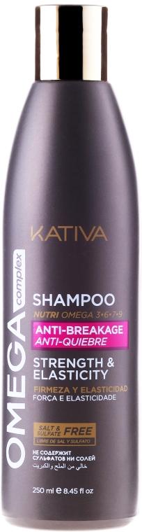 Wzmacniający szampon do włosów zniszczonych - Kativa Omega Complex Shampoo Anti-Breakage