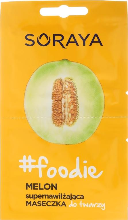 Supernawilżająca maseczka do twarzy Melon - Soraya #Foodie  — фото N1