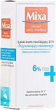 Kup Lekki krem nawilżający 24h przywracający równowagę skórze normalnej i mieszanej - Mixa Sensitive Skin Expert 24 h Moisturising Cream