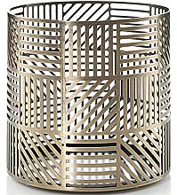 Kup Świecznik - Yankee Candle Crosshatch Brass Jar Holder