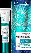 Kup Ultraodżywczy krem-żel redukujący zmarszczki pod oczy i na powieki 30+/40+ - Eveline Cosmetics Hyaluron Clinic