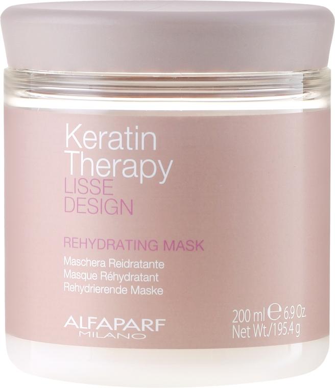 Nawilżająca maska do włosów - Alfaparf Lisse Design Keratin Therapy Rehydrating Mask