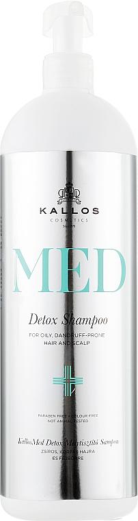 Szampon przeciwłupieżowy do włosów przetłuszczających się - Kallos Cosmetics MED Detox — фото N2