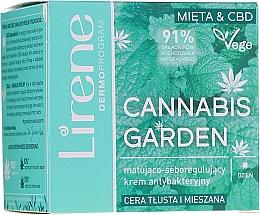 Kup Matująco-seboregulujący krem antybakteryjny na dzień do cery tłustej i mieszanej - Lirene Cannabis Garden Mint & CBD