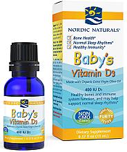 Kup Witamina D3 w płynie dla dzieci - Nordic Naturals Baby's Vitamin D3 400 IU Olive Oil