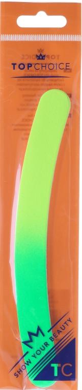 Pilnik do paznokci Banan 150/220, 18 cm, 7453, neonowy - Top Choice — фото N1