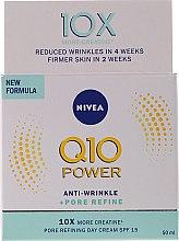 Kup Przeciwzmarszczkowy krem do twarzy do cery mieszanej na dzień SPF 15 - Nivea Q10 Power Anti-Wrinkle + Pore Refine Day Cream