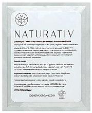Kup Łagodząco-nawilżająca maska do twarzy z biopudrem ryżowym - Naturativ Face Mask