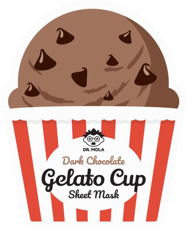 Maska na tkaninie do twarzy - Dr. Mola Dark Chocolate Gelato Cup Sheet Mask — фото N1