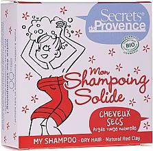 Kup Twardy szampon do włosów suchych z naturalną glinką czerwoną - Secrets De Provence Natural Red Clay My Shampoo