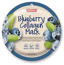 Kup Borówkowa maska kolagenowa w płachcie - Purederm Blueberry Collagen Mask
