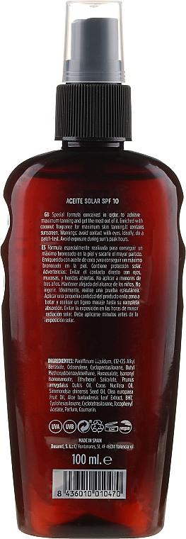 Olejek do opalania - Mediterraneo Sun Coconut Suntan Oil SPF10 — фото N2