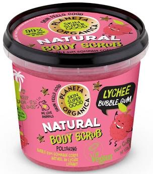 Naturalny peeling do ciała Liczi i guma balonowa - Planeta Organica Natural Body Scrub Lychee & Bubble Gum
