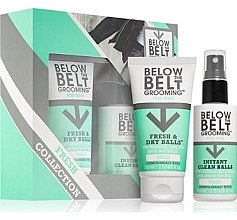 Kup Zestaw - Below The Belt Grooming Fresh & Dry Fresh (gel 75 ml + spray 75 ml)